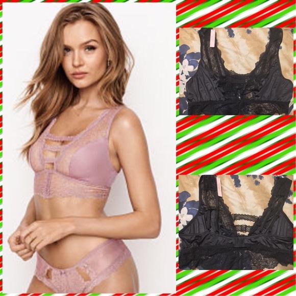 f57a513c02d8f Victoria s Secret Chantilly Lace Plunge Bralette⬇️